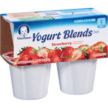 Gerber Yogurt & Fruit Blends Yogurt & Fruit Blends Strawberry 14 Oz (4-3.5 Oz) Yogurt
