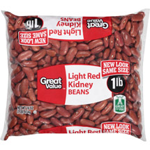 Great Value Dried Kidney Light Red Beans