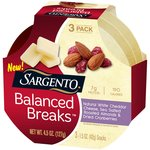 Sargento Balanced Breaks White Cheddar Cheese Sea Salted Roasted Almonds & Dried Cranberries Snacks