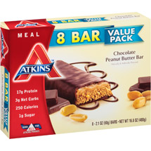 Atkins Meal Chocolate Peanut Butter Bars