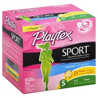 Playtex Sport Unscented Regular/Super Absorbency Multi-Pack Tampons