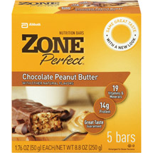 Zone Perfect Chocolate Peanut Butter 1.76 Oz Nutrition Bar
