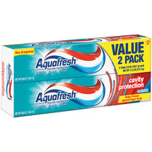 Aquafresh Cavity Protection Cool Mint Fluoride Toothpaste (Pack of 2)