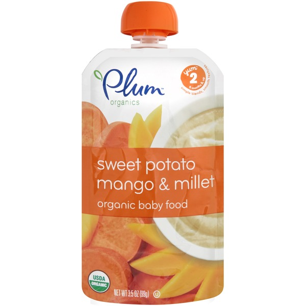 Plum Baby Sweet Potato Mango & Millet Stage 2 Baby Food