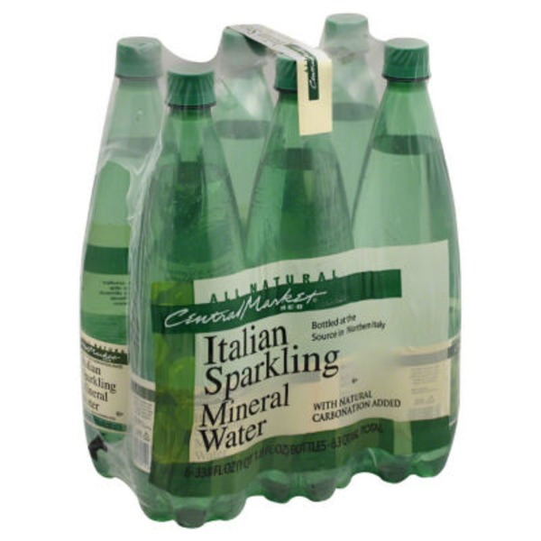 Central Market All Natural Sparkling Water Bottles 6 Count