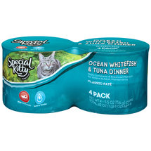 Special Kitty™ Ocean Whitefish & Tuna Dinner Wet Cat Food 4-5.5 oz. Cans
