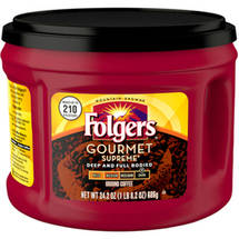 Folgers Gourmet Supreme Dark Roast Ground Coffee