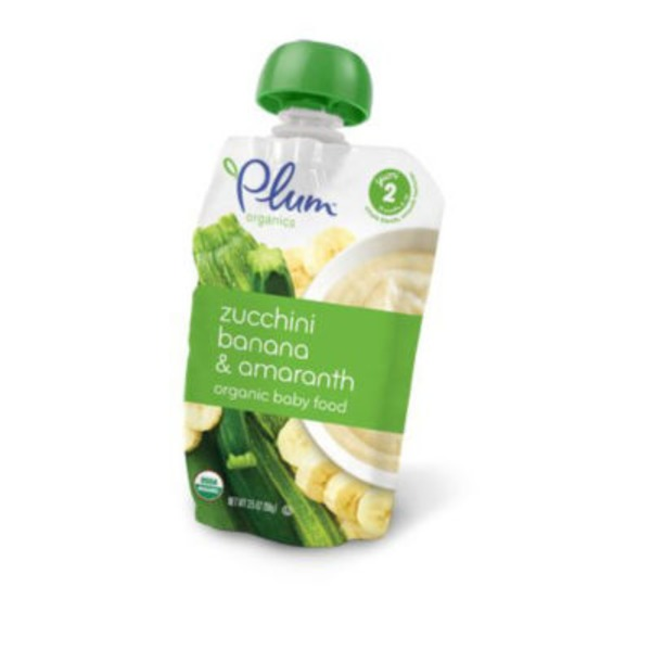 Plum Organics 2nd Blends Zucchini & Banana Baby Food