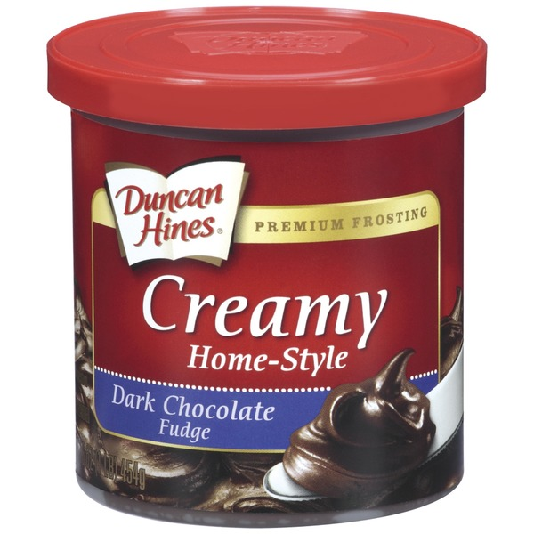 Duncan Hines Dark Chocolate Fudge Creamy Home-Style Frosting