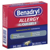 Benadryl® Liqui-Gels Softgels Dye-Free Allergy Relief