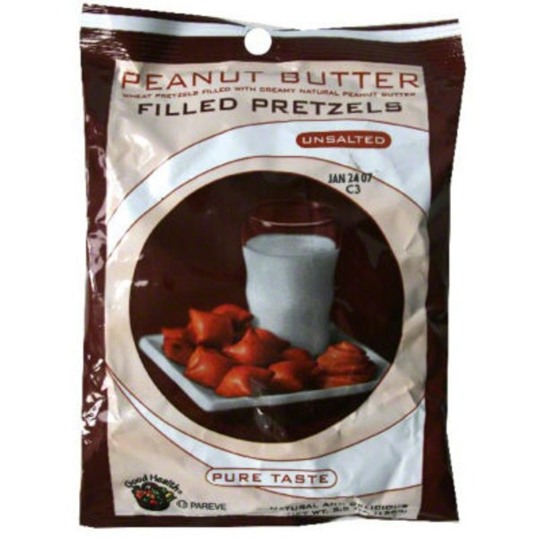 Good Health Peanut Butter Filled Pretzels Unsalted