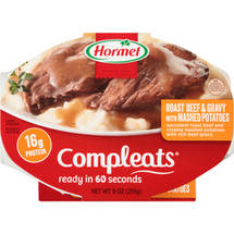Hormel Roast Beef & Gravy w/Mashed Potatoes Compleats Microwave Bowls