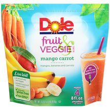 Dole Fruit & Veggie Blends Mango Carrot Smoothies