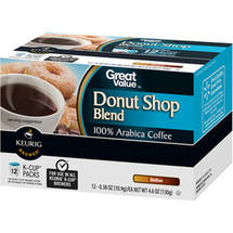 Great Value Donut Shop Blend Medium Roast Coffee K-Cup Packs