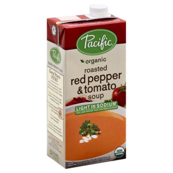 Pacific Organic Roasted Red Pepper & Tomato Light Sodium Soup
