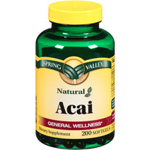 Spring Valley Acai Dietary Supplement Softgels