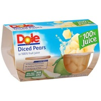 Dole Fruit Bowls Diced in 100% Juice Pears