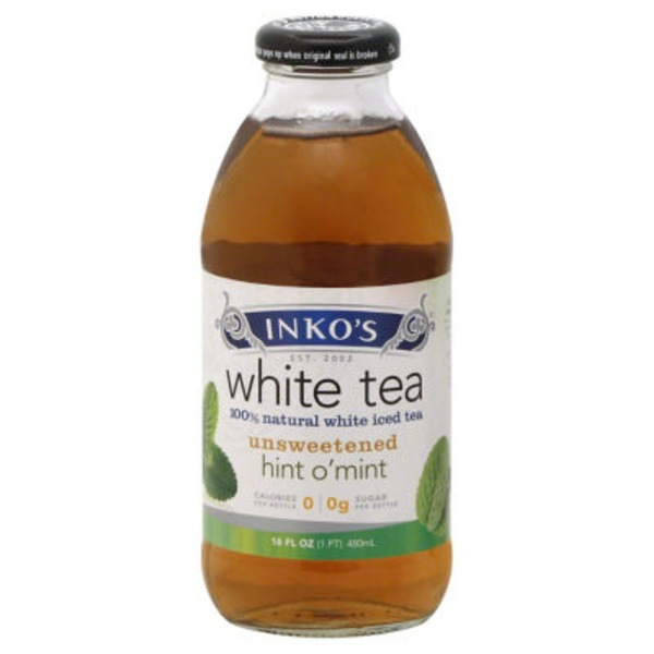 Inko's White Tea Unsweetened Hint O'Mint