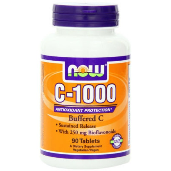 Now C-1000 Sustained Release with 500 mg Bioflavonoids Tablets