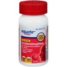 Equate Acetaminophen Extra Strength 500Mg/Non Aspirin/Easy Tabs Pain Reliever