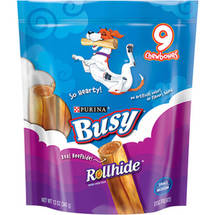 Purina Busy Rollhide Small/Medium Dog Treats 9-Count Pouch