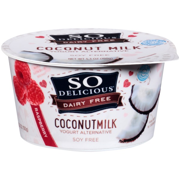 So Delicious Dairy Free Coconut Milk Raspberry Yogurt Alternative