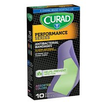 Curad Performance Series Antibacterial Bandages Extra Large