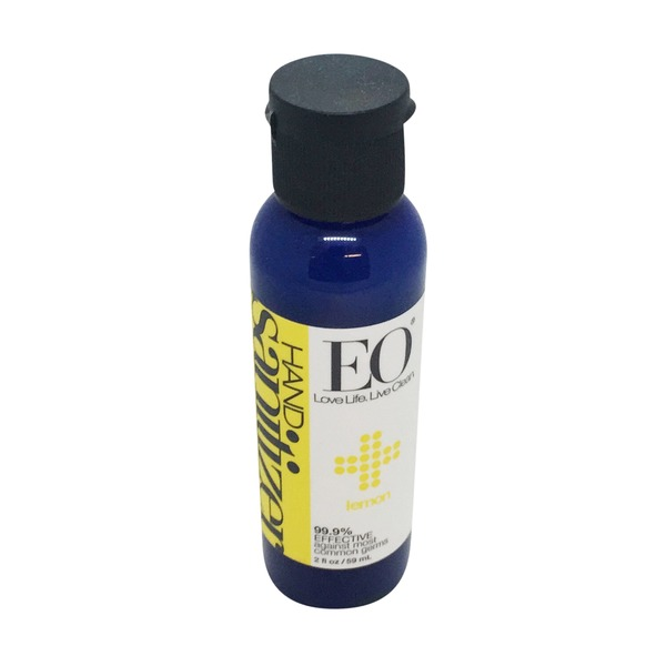 EO Hand Sanitizer, Organic Lemon