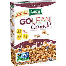 Kashi GoLean Crunch!  Cold Cereal box of  21.3 oz