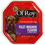 Ol' Roy?? Gourmet Dog Food Filet Mignon Flavor in Meaty Juices