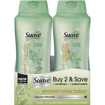 Suave Professionals Almond + Shea Butter Shampoo & Conditioner Combo Pack (Pack of 2)