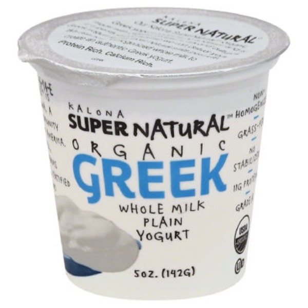 Kalona Super Natural Organic Greek Whole Milk Plain Yogurt