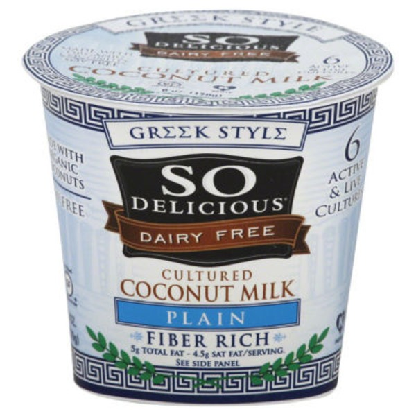 So Delicious Greek Style Dairy Free Plain Coconut Milk