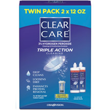 Clear Care No Rub Value Pack Solution
