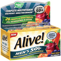 Alive! Once Daily Men's 50 Multivitamin/Multimineral