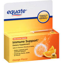 Equate Immune Support Dietary Supplement Orange Flavor