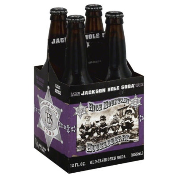 Jackson Hole Soda Old-Fashioned High Mountain Huckleberry Soda