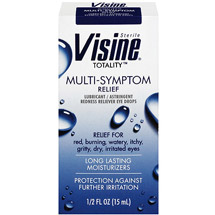 Visine Totality Lubricant/Astringent Redness Reliever Eye Drops Multi-Symptom Relief