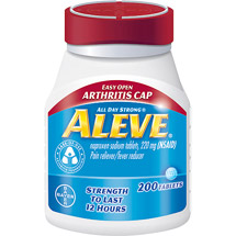 Aleve Naproxen Sodium Tablets 220 Mg (Nsaid) Pain Reliever/Fever Reducer with EZ Open Cap