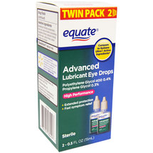 Equate Advanced Lubricant Eye Drops (Pack of 2)