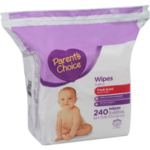 Parent's Choice Scented Baby Wipes Reseal Triple Pack