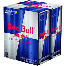 Red Bull With Taurine Energy Drink 4 Ct/33.6 Fl Oz