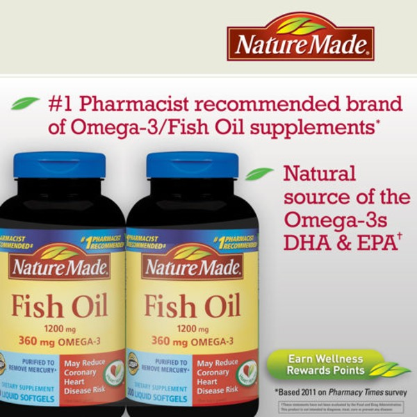 Nature Made Fish Oil 1200mg Softgels