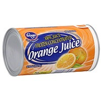 Kroger 100% Pure Frozen Concentrate Orange Juice