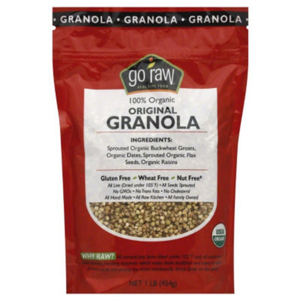 Go Raw Raisin Crunch Sprouted Granola