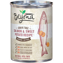 Purina Beyond Natural Wet Dog Food Grain Free Salmon and Sweet Potato Recipe Ground Entree