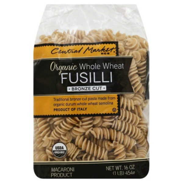 Central Market Organic Whole Wheat Fusilli Bronze Cut Pasta