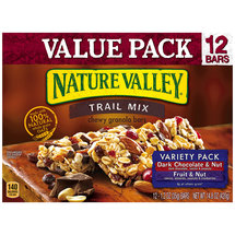 Nature Valley Trail Mix Dark Chocolate & Nut and Fruit & Nut Variety Pack Chewy Granola Bars