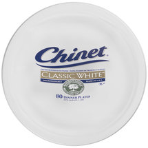 Chinet Classic White Dinner Plates