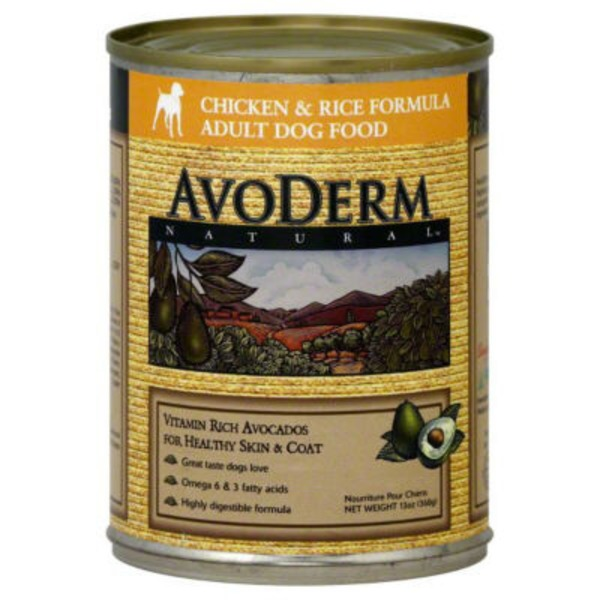 AvoDerm Natural Chicken & Rice Adult Canned Dog Food